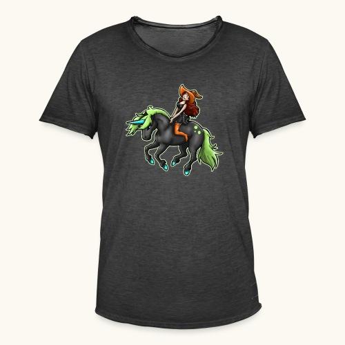 Monter une sorcière sexy sur une licorne. - T-shirt vintage Homme