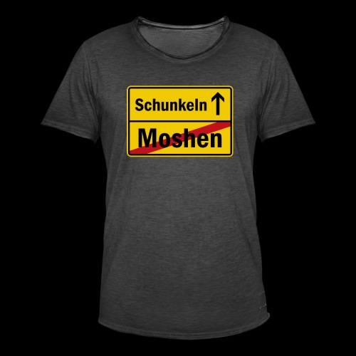 moshen vs. schunkeln - Männer Vintage T-Shirt