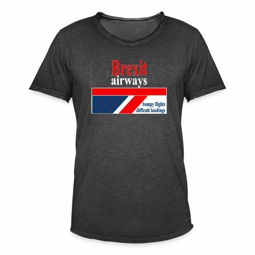 BREXIT AIRWAYS - Mannen Vintage T-shirt