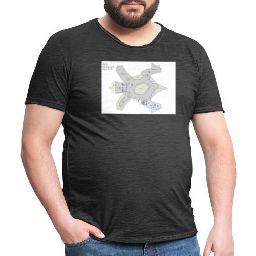 Schemat żółwiarium - Koszulka męska vintage