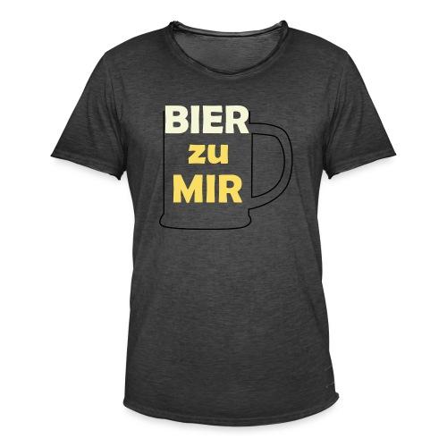 Bier zu mir - Männer Vintage T-Shirt