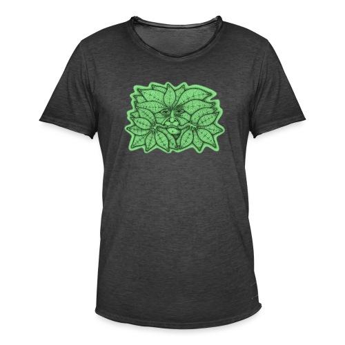Green Man for Pagan Global Warming/Climate Change - Men's Vintage T-Shirt