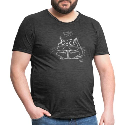Tu gato es agente de la CIA - Camiseta vintage hombre