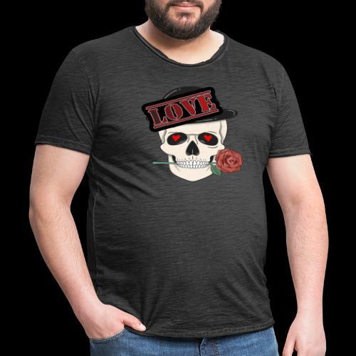 Skull Love - Männer Vintage T-Shirt