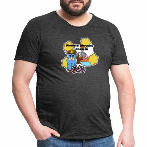 Une merveilleuse licorne est née (pour garcon) - T-shirt vintage Homme