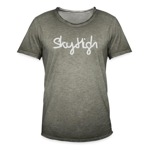 SkyHigh - Women's Premium T-Shirt - Gray Lettering - Men's Vintage T-Shirt