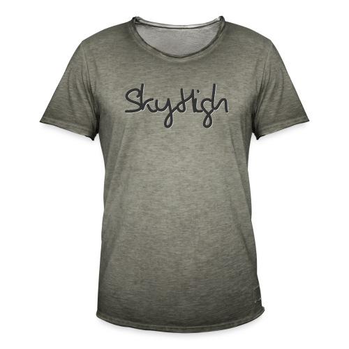 SkyHigh - Men's Premium Hoodie - Black Lettering - Men's Vintage T-Shirt