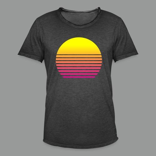 80s Sun - Männer Vintage T-Shirt