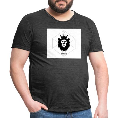 Rough - Maglietta vintage da uomo