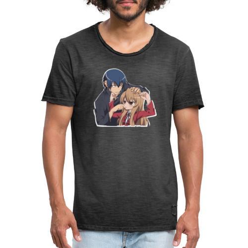 Motivo Anime Toradora - Maglietta vintage da uomo