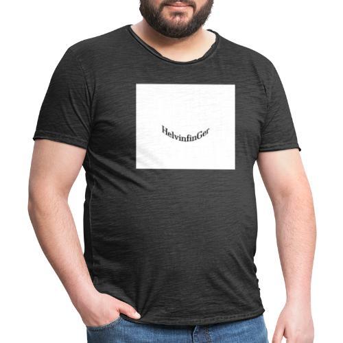 HilvinfinGer - Camiseta vintage hombre