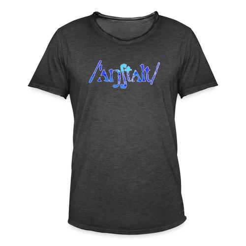 /'angstalt/ logo gerastert (blau/weiss) - Männer Vintage T-Shirt