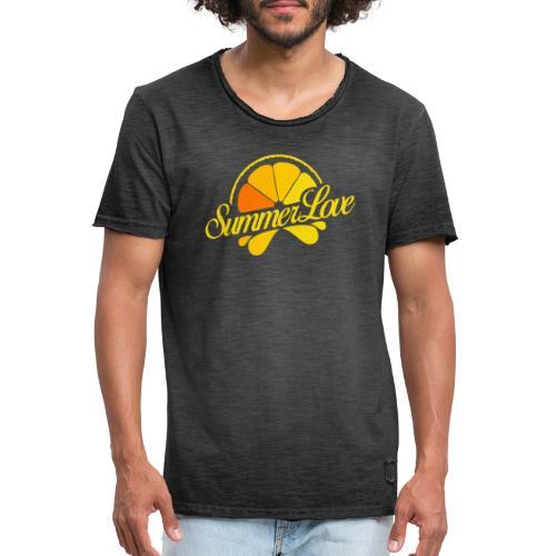 Logo Summer Love 06 - Mannen Vintage T-shirt