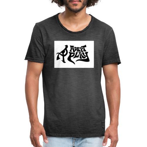 Adept Play logo crop - Vintage-T-shirt herr
