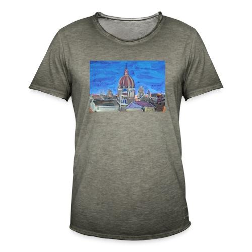 Veduta di Roma - Maglietta vintage da uomo