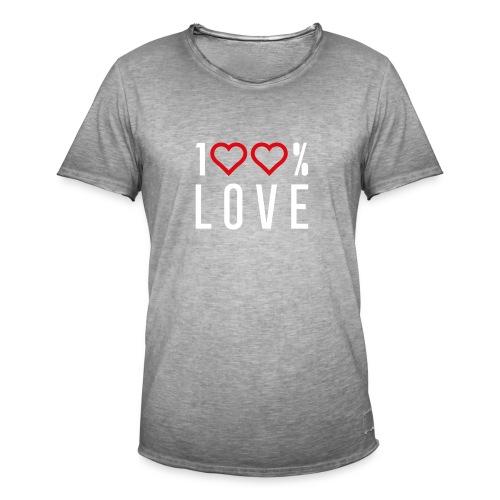 100 LOVE - Men's Vintage T-Shirt