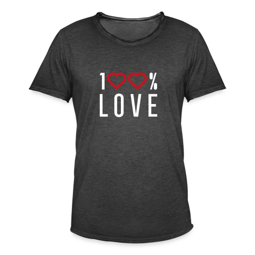 100 LOVE - Men's Vintage T-Shirt