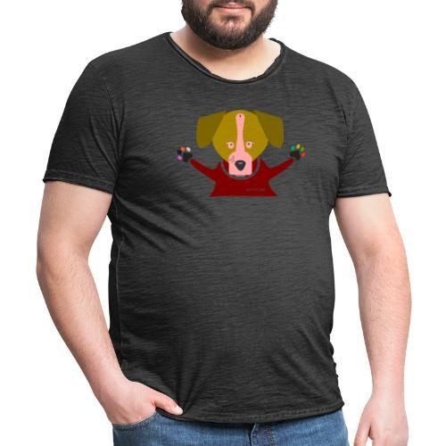 Perro caricias Cipotescü - Camiseta vintage hombre