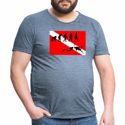 Scuba Evolution - Men's Vintage T-Shirt