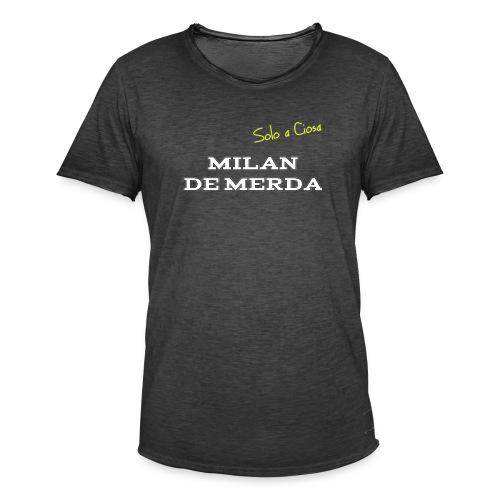 MILAN DE MERDA - Maglietta vintage da uomo