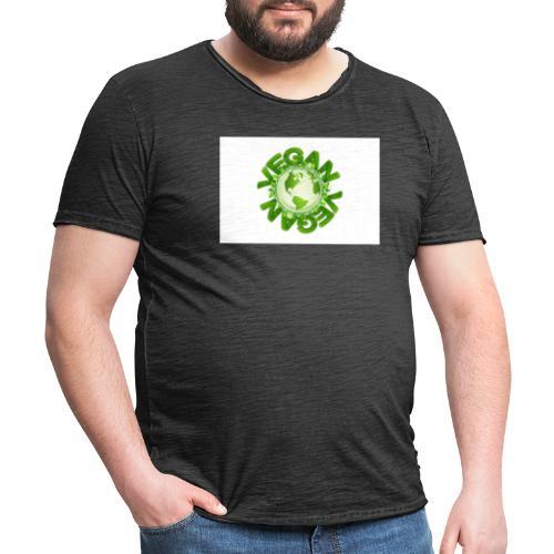 vegan - Männer Vintage T-Shirt