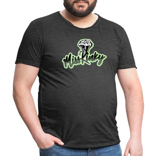 Logo Miss Kinky vert - T-shirt vintage Homme
