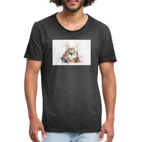 Katzen Design - Männer Vintage T-Shirt