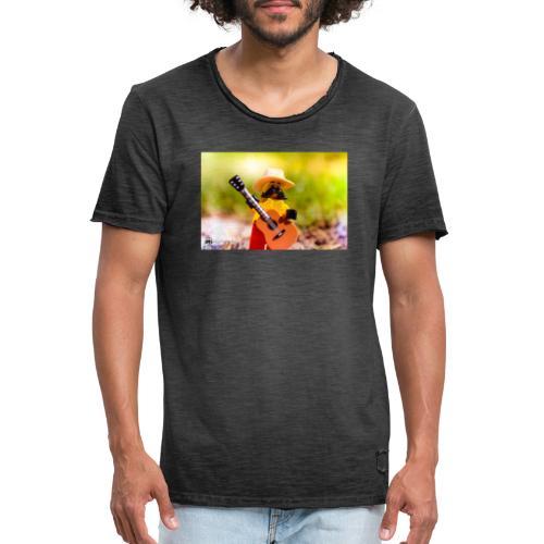 Słońce, natura i muzyka i czego chcieć więc? - Koszulka męska vintage