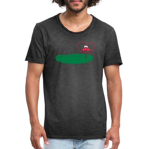 Herz - Männer Vintage T-Shirt
