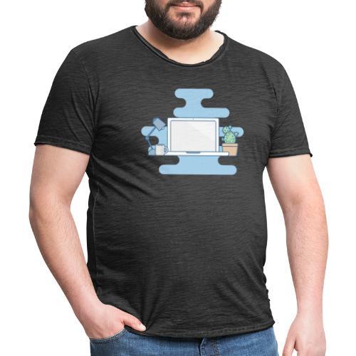 Arbeitstisch - Männer Vintage T-Shirt