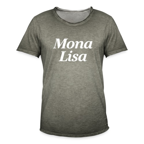 Mona Lisa Gemälde - Männer Vintage T-Shirt
