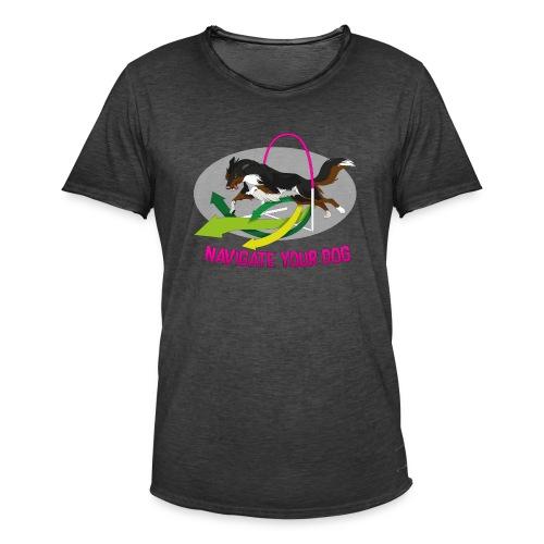 *nyd* Logo (für dunklen Untergrund) - Männer Vintage T-Shirt