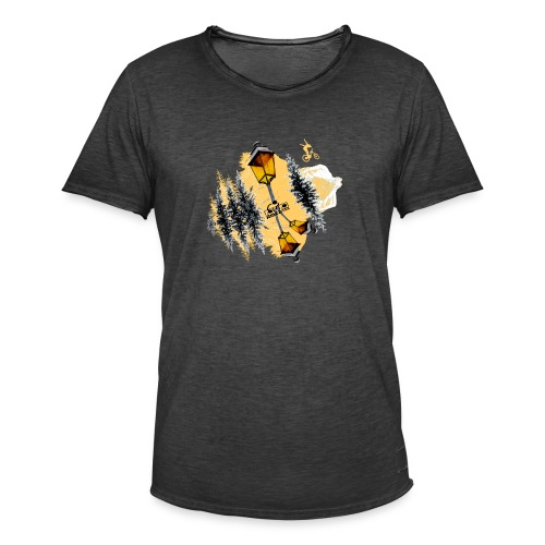 Ride & Tek orange - T-shirt vintage Homme