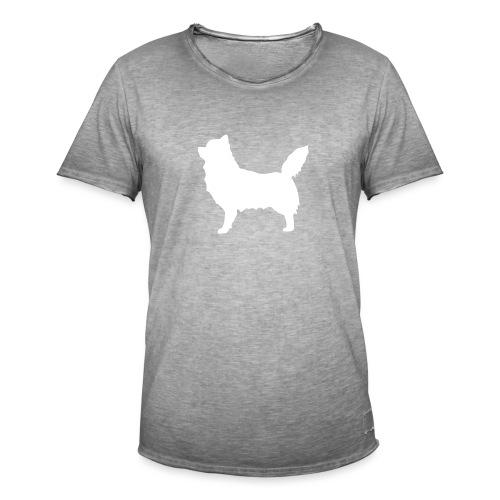 Chihuahua pitkakarva valkoinen - Miesten vintage t-paita