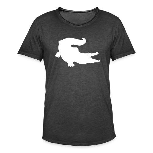 Metal Gear Online - Crocodile Rank - Maglietta vintage da uomo