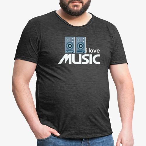 Amo la música 02 - Camiseta vintage hombre