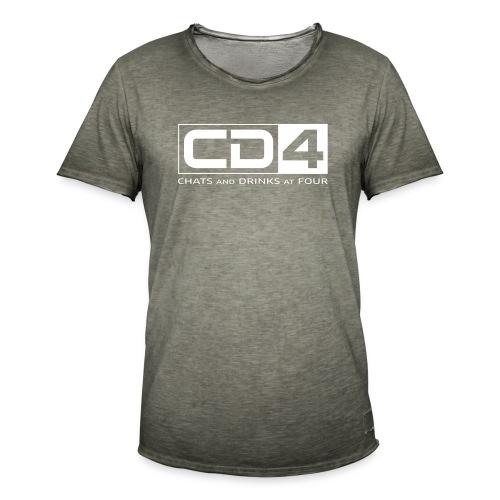 cd4 logo dikker kader bold font - Mannen Vintage T-shirt