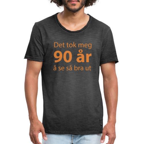 det tok meg 90 a r - Vintage-T-skjorte for menn