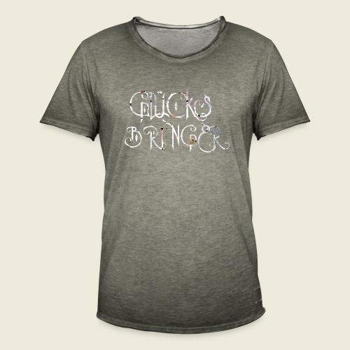 Glücksbringer für viel Glück im Leben - Männer Vintage T-Shirt