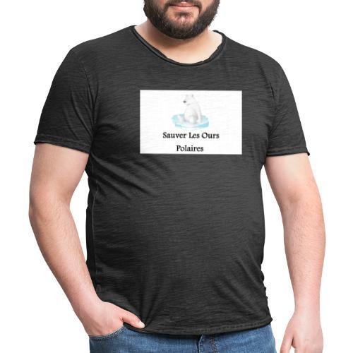 Sauver Les Ours Polaires - T-shirt vintage Homme