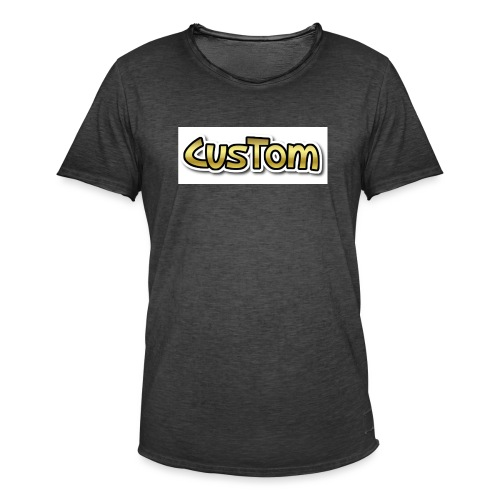 CusTom GOLD LIMETED EDITION - Mannen Vintage T-shirt