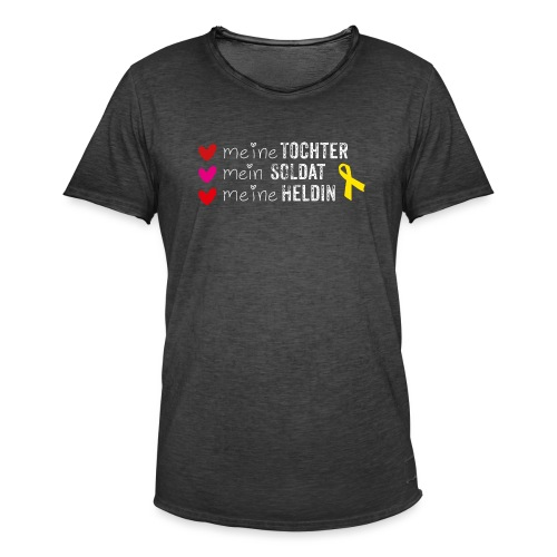 Meine Tochter Soldat Heldin weiss - Männer Vintage T-Shirt