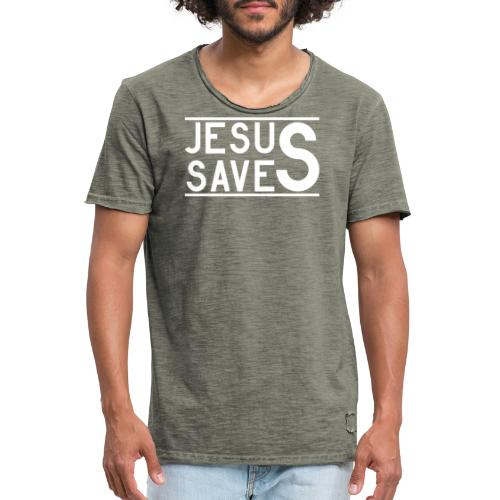 Jesus Saves - Männer Vintage T-Shirt