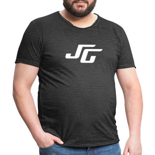 JG Logo weiss - Männer Vintage T-Shirt