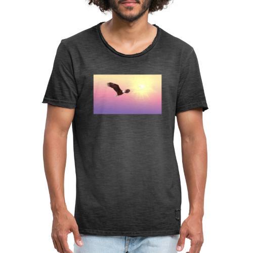 bald eagle 521492 1920 - Camiseta vintage hombre
