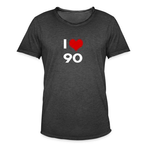 I love 90 - Maglietta vintage da uomo