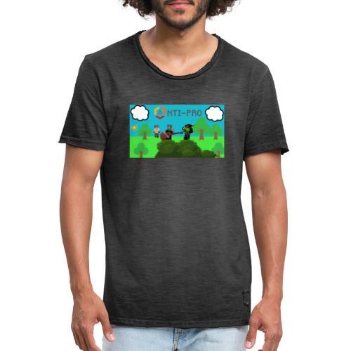 Maglietta Immagine Mario Anti-Pro - Maglietta vintage da uomo