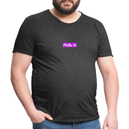 Phille N Square Purple - Vintage-T-shirt herr