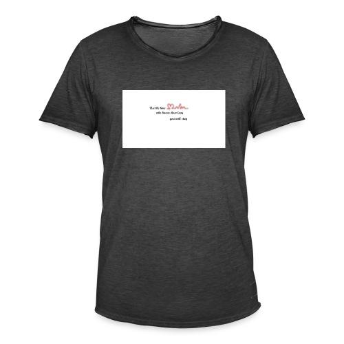 Zeit - Männer Vintage T-Shirt