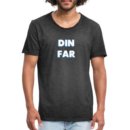 DIN FAR BLÅ - Herre vintage T-shirt